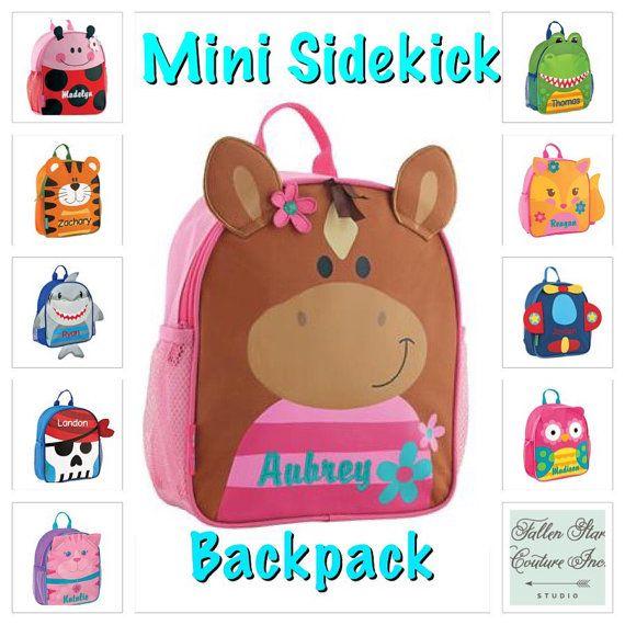 toddler backpack , toy bag , kids backpack , preschool backpack , stephen joseph backpack , personalized kids bag , MINI sidekick , HORSE