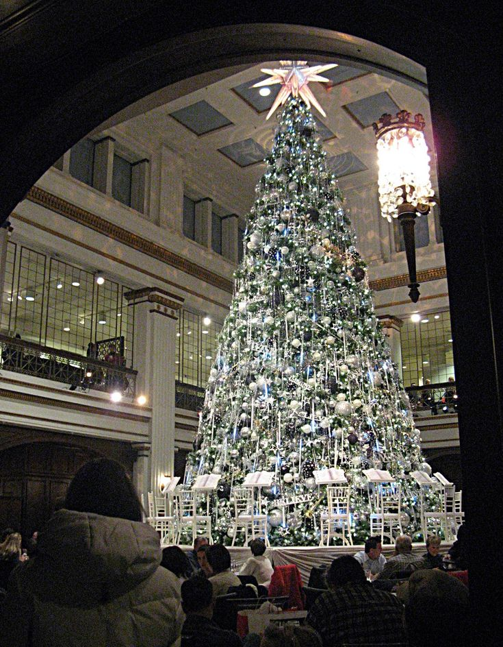 walnut room at the old marshall fields department store now macys - Christmas Lights Store