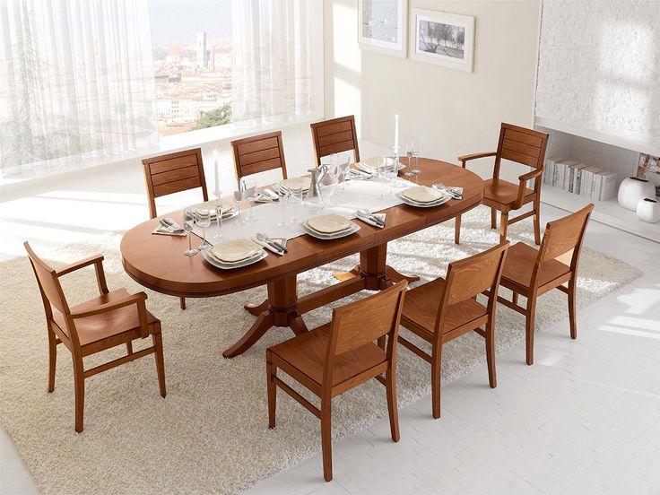 oltre 25 fantastiche idee su tavolo ovale su pinterest | tavoli da ... - Tavolo Ovale Allungabile Legno Massello