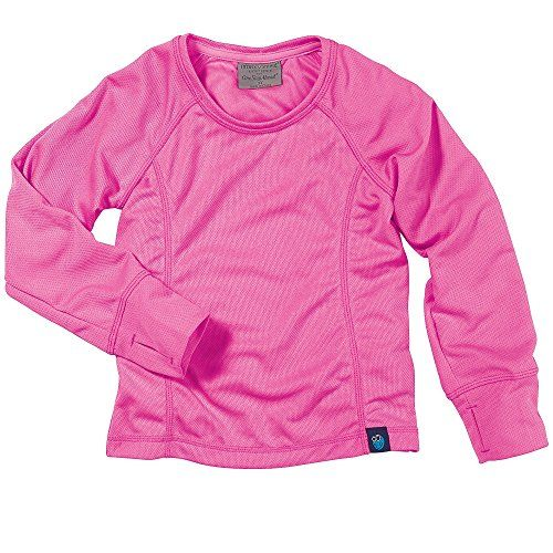 Girls Dark Pink Long Sleeve Micromesh Top by Bug Smarties Children Size 78 * Want to know more, click on the image.