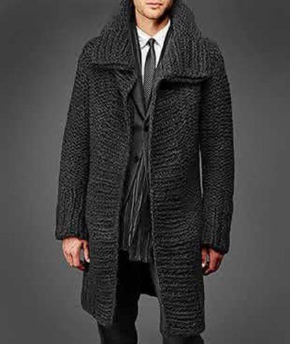 Chaqueta para hombre de tejido a mano XS, S, M, L, XL, XXL Chaqueta de lana a mano Suéter de punto b10