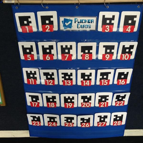 Plickers Cards with Red Numbers - Kevin Tiller