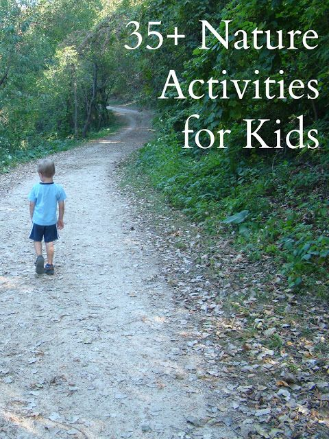 Unsure of how to keep your children busy and active during the summer? 35 nature activities for kids!