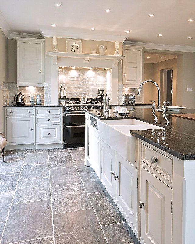 This project includes: architectural & landscape scheme, hand painted kitchen, utility, bathrooms, stone flooring, colour scheme, lloyd loom furniture