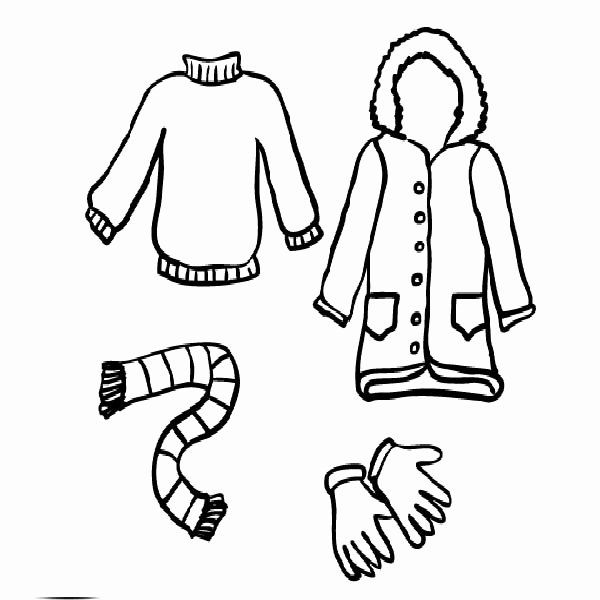 Winter Clothes Coloring Pages Fresh Winter Season Clothing