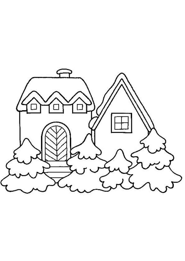 Les 50 meilleures images du tableau coloriages de maisons - Dessin de maison facile ...