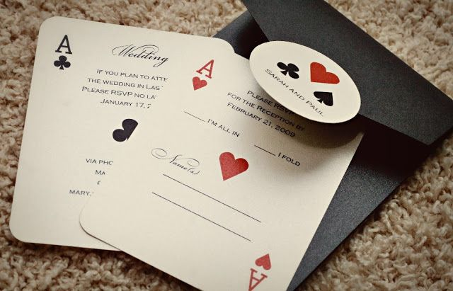 Gambling wedding invitations bond theme for casino royale