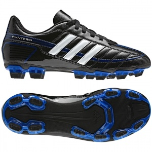 SALE - Kids Adidas Puntero Soccer Cleats Black Leather - Was $24.95 - SAVE $5.00. BUY Now - ONLY $19.96