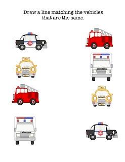 Preschool Printables: Free Little Vehicles Printable