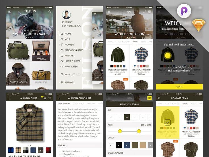 Shop iOS App - UI and Prototype