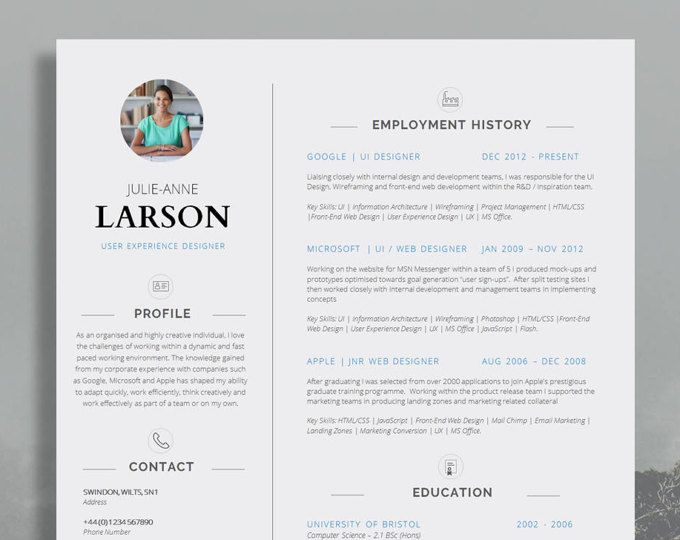 Resume Template Cv Template Cover Letter Application Advice