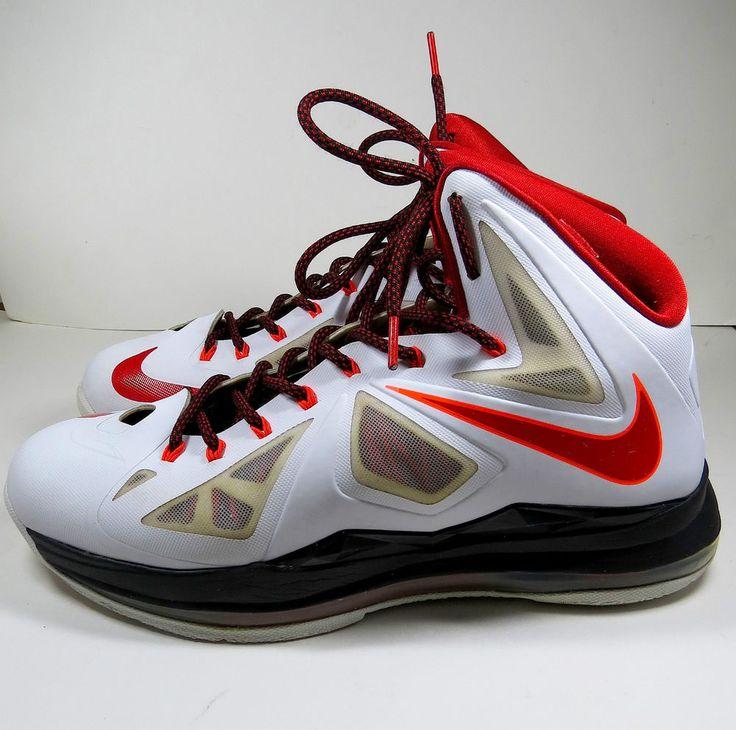 Nike LeBron X 10 Heat Home White/Univ-Red/Blk Ttl-Crimson