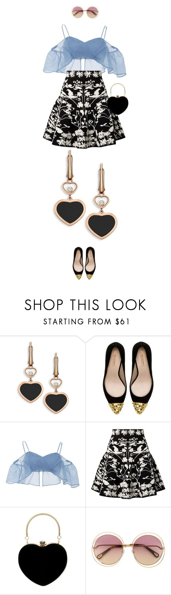 """""""eva2156"""" by evava-c ❤ liked on Polyvore featuring Chopard, Zara, Alice McCall and Alexander McQueen"""