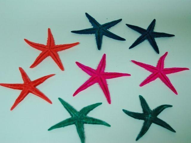 00001597 Αστερίας Χρωματιστός 7-9cm Σετ/100