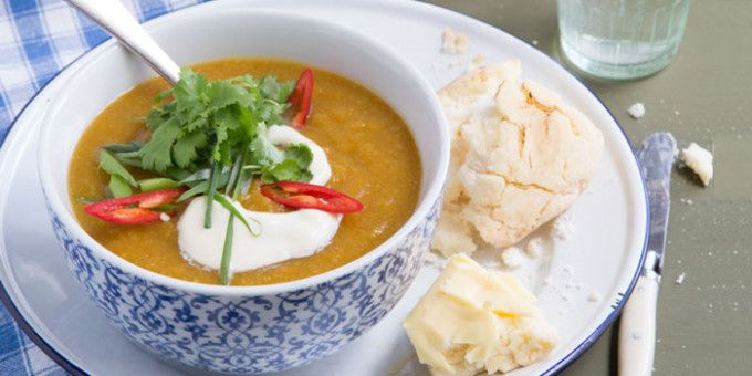 Thai Sweet Potato and Pumpkin Soup