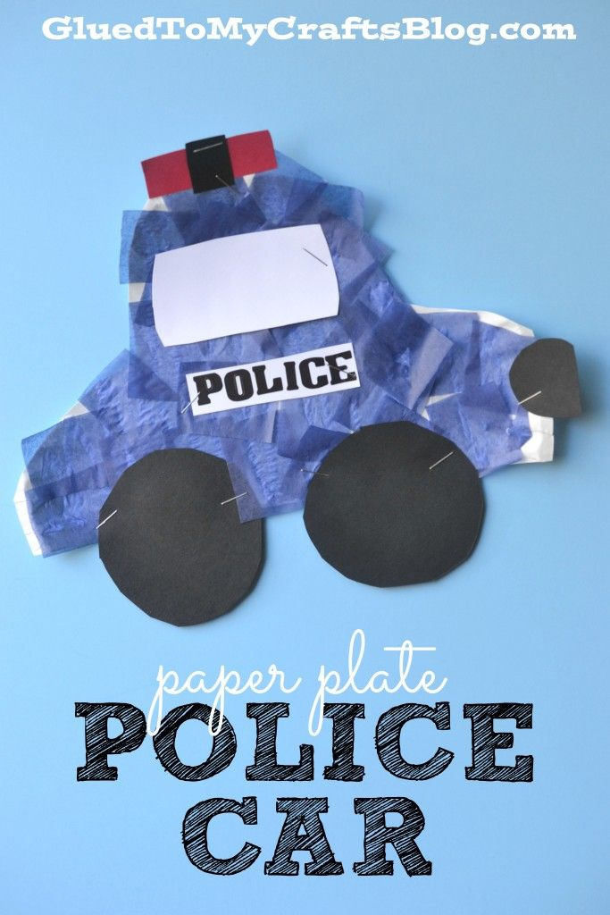 Paper Plate Police Car - Kid Craft                                                                                                                                                     More