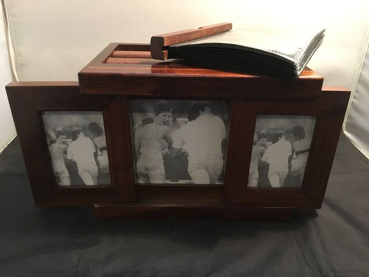 Wood Crafted Photo Album Box with Glass Sliding Frames for 63 Photos (WC174) in Cameras, Camera & Photo Accessories, Photo Albums & Storage | eBay!