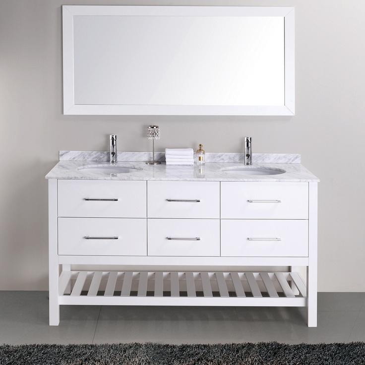Valentina 59 Inch Double Sink Vanity Set | Overstock.com