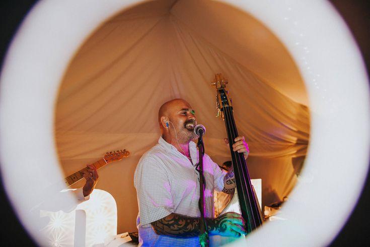 Every band needs a double bass - fact. Photo by Benjamin Stuart Photography #weddingphotography #doublebass #band #weddingmusic #weddingentertainment #weddingband #music #party