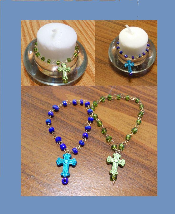 Rosarios para  bautizo. how to make a baptism rosary