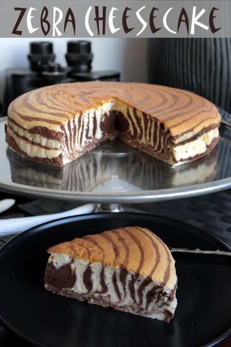 Zebra Cheesecake. Wow this is really cool!!!! :O