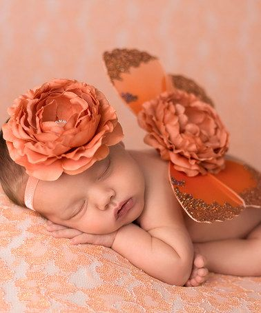 Another great find on #zulily! Orange Wing & Headband Set by The Tiny Blessings Boutique #zulilyfinds
