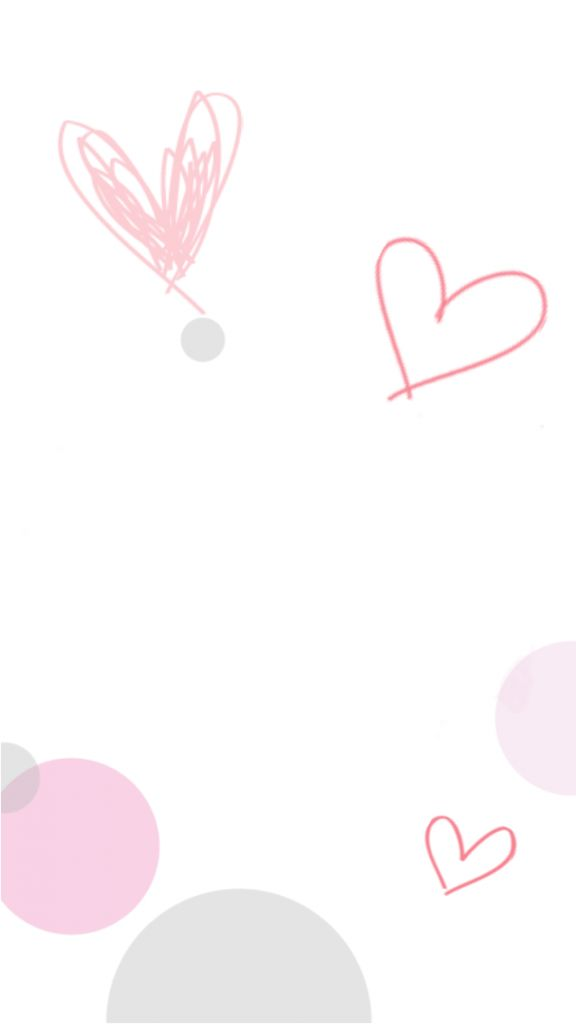 White Pink Grey Hearts Spots IPhone Phone Lock Screen Wallpaper Background