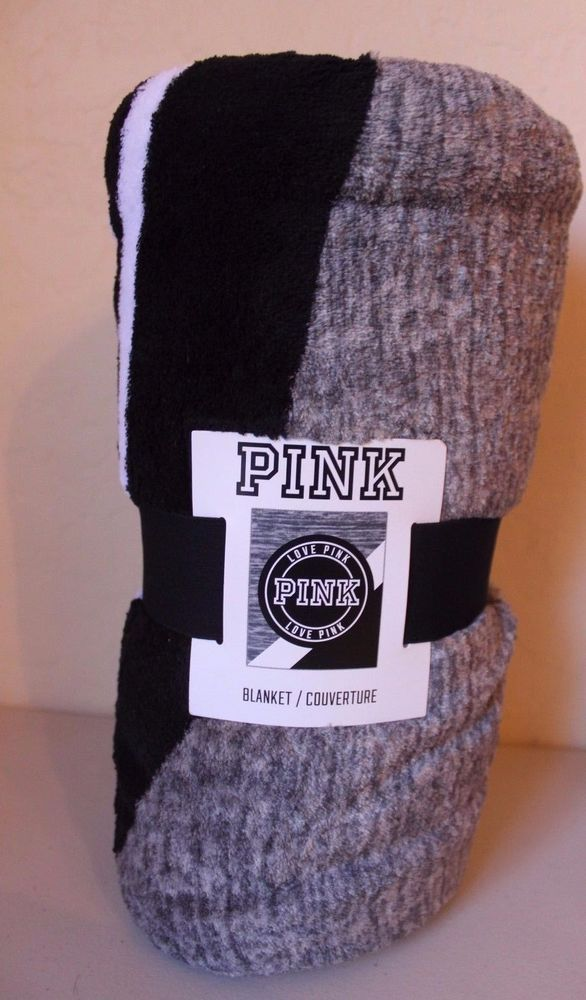Pink Victoria's Secret Love Pink Gray Logo Soft Blanket - Brand NEW #VictoriasSecret