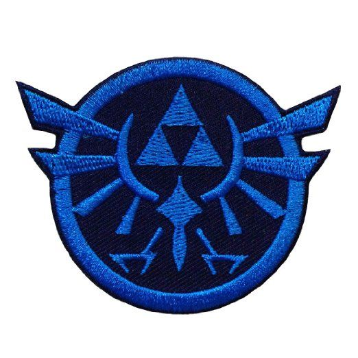 Amazon zelda triforce game logo embroidered iron