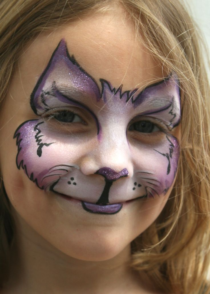 face painting cat - 736×1030