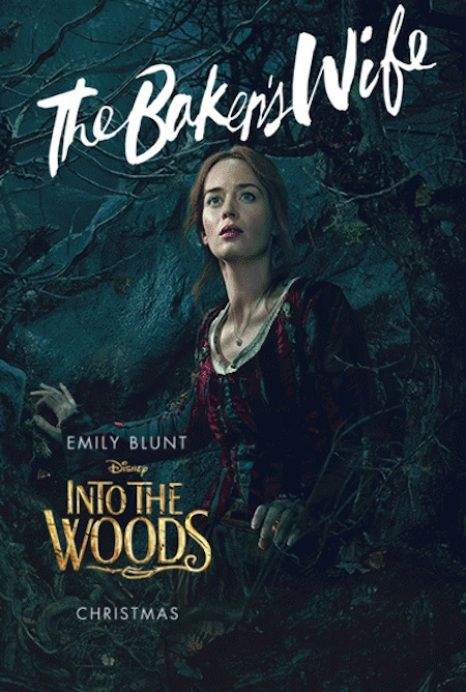 "Bakers Wife from INTO THE WOODS opens in theaters December 25, 2014  New ""Into the Woods"" Trailer Starring Meryl Streep, Emily Blunt, Chris Pine [video] Check out Character Posters [photos] In theaters Christmas 2014 #IntotheWoods #Disney  http://www.redcarpetreporttv.com/2014/11/06/new-into-the-woods-trailer-starring-meryl-streep-emily-blunt-chris-pine-video-check-out-character-posters-photos-in-theaters-christmas-2014-intothewoods-disney/"