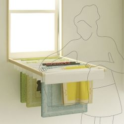 Blindry is a brilliant window blind that turns into a fold-down laundry rack for drying clothes indoors.