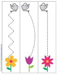 spring garden cutting and fine motor skill preschool printable
