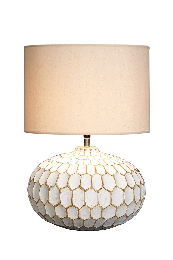 Lime green table lamp - Honeycomb Lamp