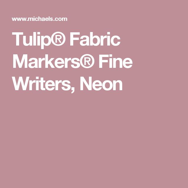 Tulip® Fabric Markers® Fine Writers, Neon