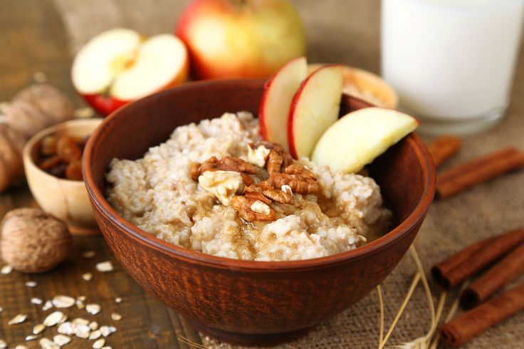 Apple, Walnut and Maple Syrup Porridge
