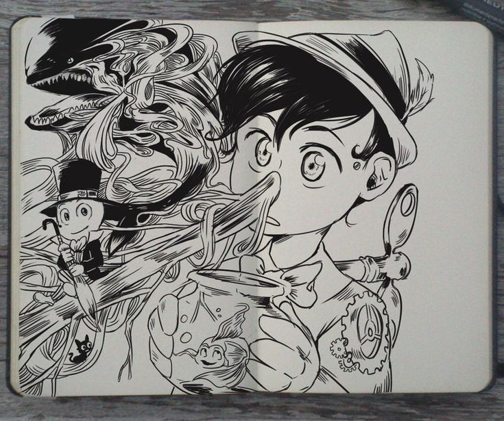 These Beautiful Disney Drawings... Are Actually Doodles In A Notebook!