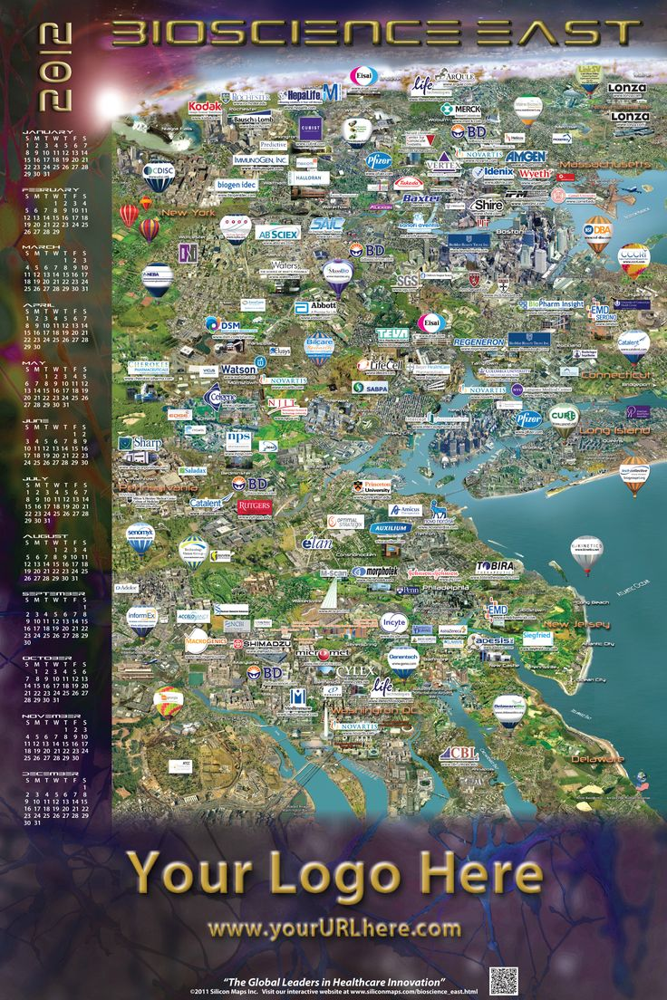 Bioscience East Map 21 best Silicon Maps