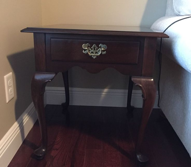 Ethan Allen Georgian Court Rectangular Cherry End Table #EthanAllen
