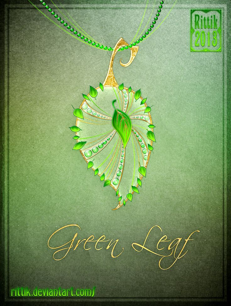 Amulet+-+Green+Leaf+by+Rittik.deviantart.com+on+@DeviantArt