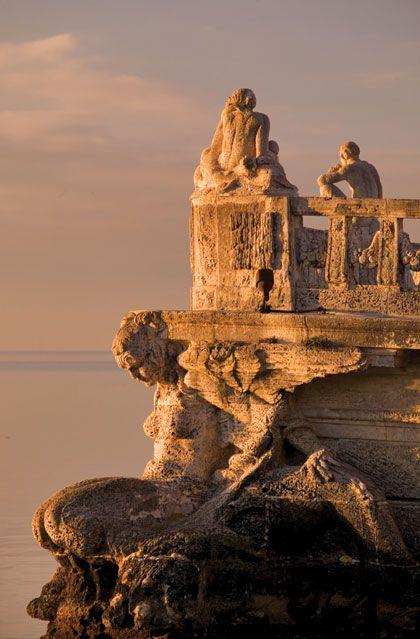 The stone barge at Villa Vizcaya  South Florida