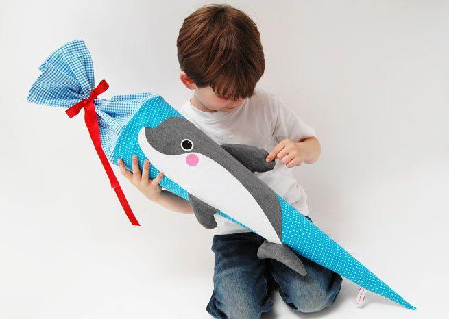 Schultüte Delfin von Josefines Kinder auf DaWanda.com