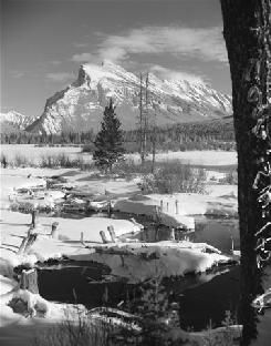 Bruno Engler Black And White Photographs  Beaver Ponds In Winter (Photograph) (BRUORGSW145A)