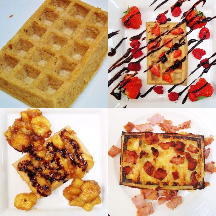Syn Free Waffles Three Ways - Slimming World Recipe - Easy - Breakfast - Healthy Extra B