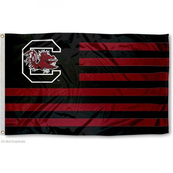 South Carolina Gamecock Nation Flag measures 3'x5', is made of polyester, has a canvas side header with two metal grommets, and the officially licensed...