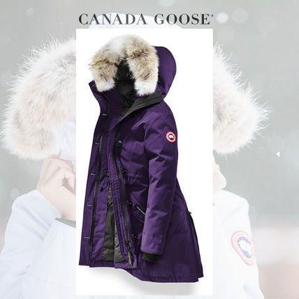 CANADA GOOSE ダウンジャケット・コート CANADA GOOSE Rossclair Parka 女性らしくノーブルなArctic Dusk