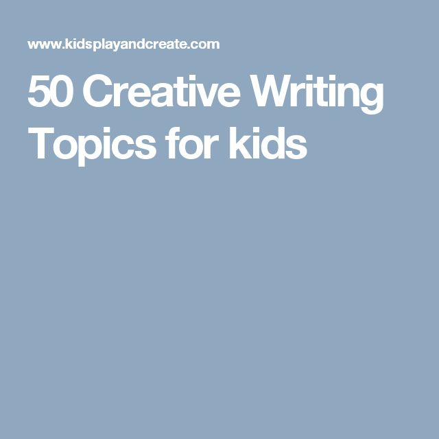 creative writing essay topics