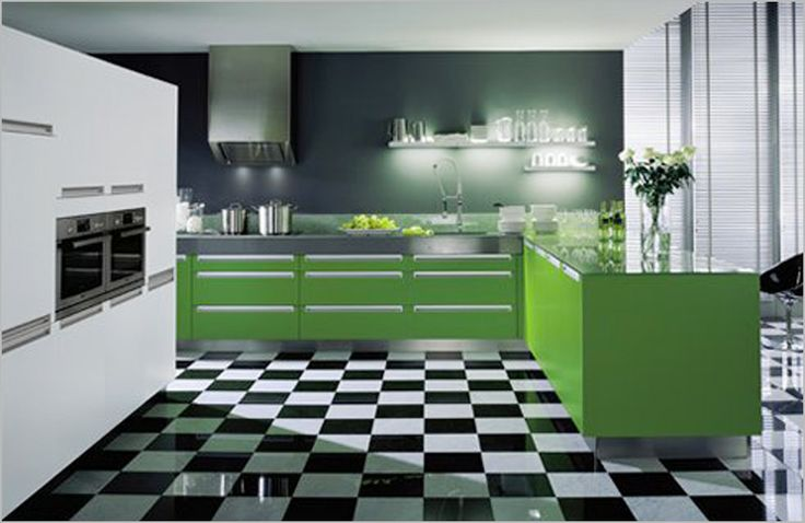 Kitchen , 50 Kitchen Design Ideas which are Bright And Colorful : Colorful Kitchen Design Ideas Modern Green Kitchen