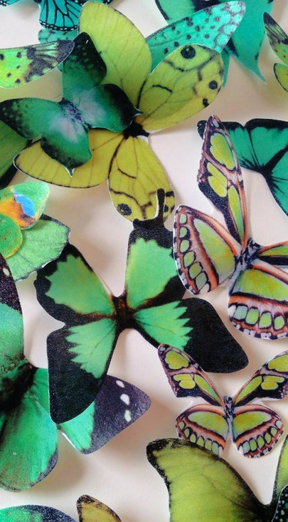 edible butterflies cake toppers Pantone Color of the Year for Spring 2013 - Emerald #HarpersBAZAAR #SpringStyle #emerald #green