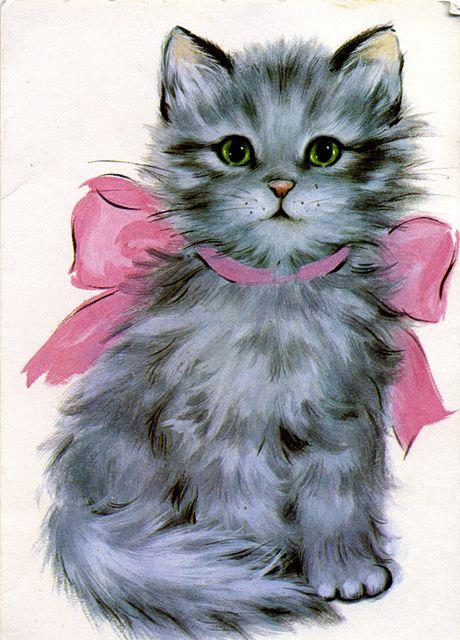 Grey kitten note card by Dilys Treacle Treasures, via Flickr